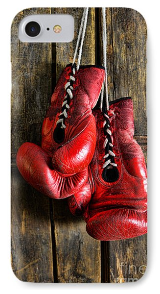 Boxing Gloves - Now Retired Phone Case by Paul Ward