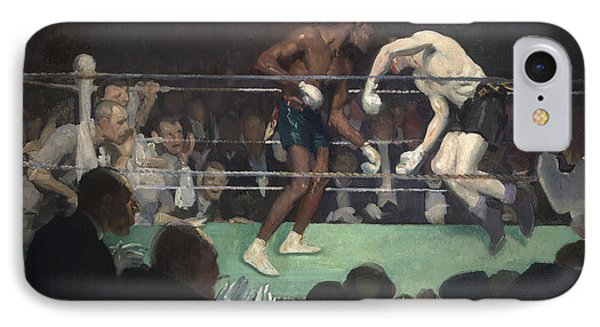 Boxing Match, 1910 IPhone Case by George Luks