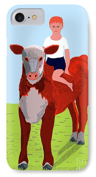 Boy And Calf IPhone Case