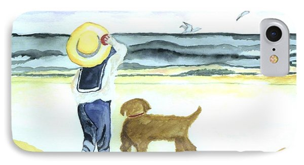 Boy And His Dog Phone Case by Marsha Heiken