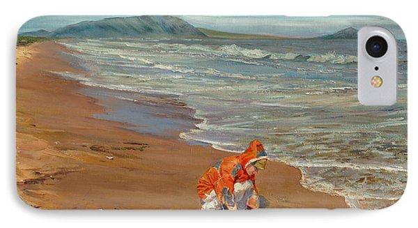 Boy At The Seashore IPhone Case