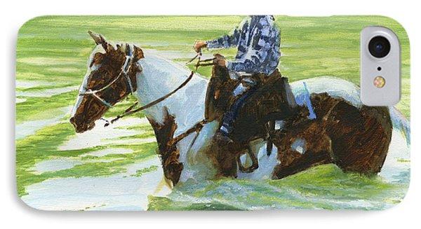 Boy Crossing Big Creek IPhone Case