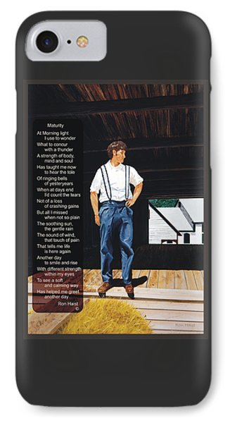 Boy In The Barn / Maturity Phone Case by Ron Haist