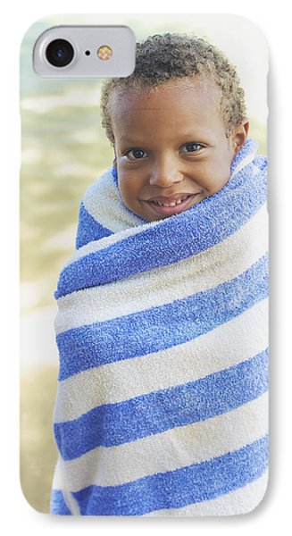 Boy In Towel Phone Case by Kicka Witte