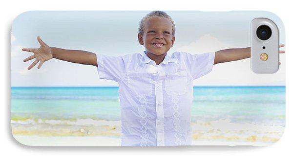 Boy On Beach Phone Case by Kicka Witte