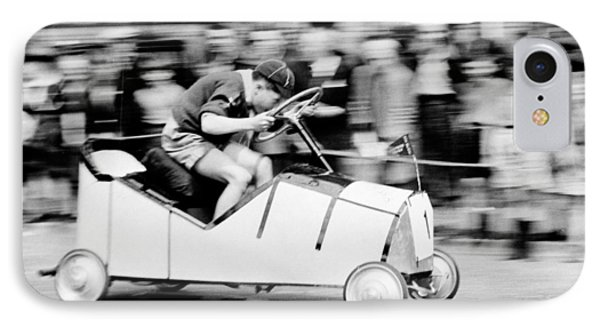 Boy Scouts Soap Box Derby, 1955 IPhone Case by British School