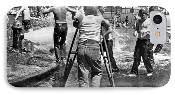 Boy With Broken Leg IPhone Case