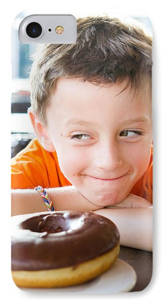 Boy With Donut IPhone Case