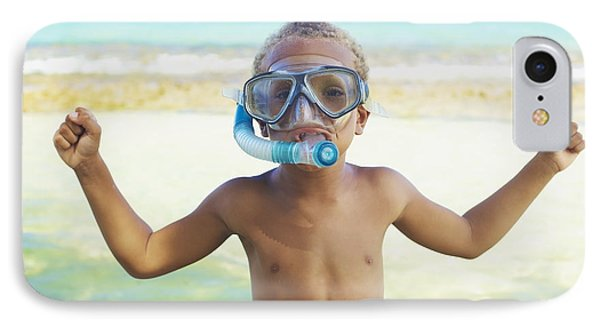 Boy With Snorkel Phone Case by Kicka Witte