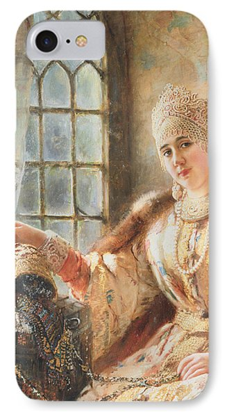 Boyar's Wife At The Window IPhone Case by Konstantin Egorovich Makovsky
