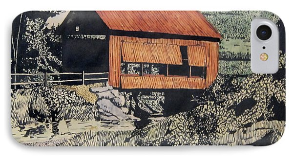 Boys And Covered Bridge Phone Case by Joseph Juvenal