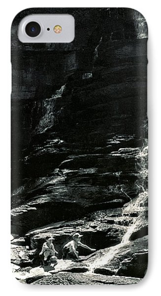IPhone Case featuring the photograph Boys And Falls by Christopher McKenzie