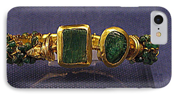 Bracelet With Emeralds Phone Case by Andonis Katanos