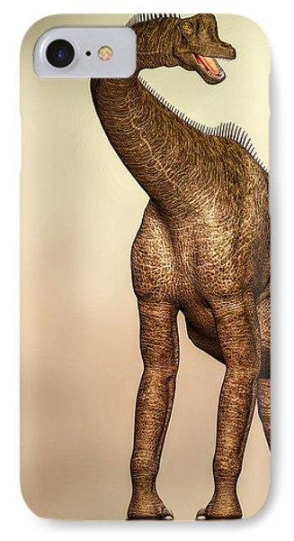 Brachiosaurus Dinosaur IPhone Case by Bob Orsillo