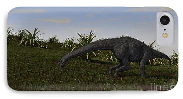 Brachiosaurus Grazing In A Grassy Field Phone Case by Kostyantyn Ivanyshen