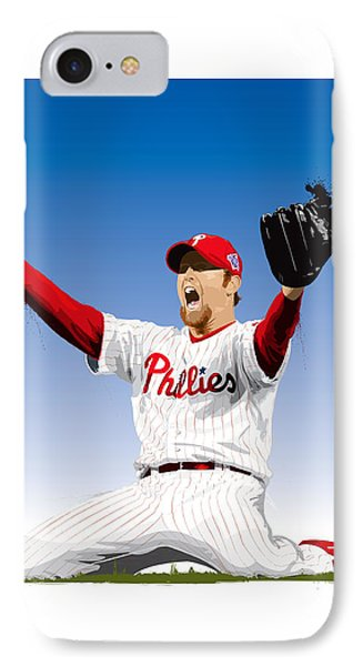 Brad Lidge Champion IPhone Case by Scott Weigner