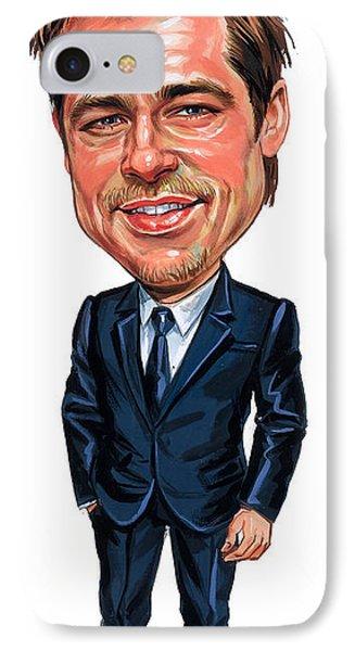 Brad Pitt IPhone Case by Art