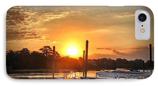 IPhone Case featuring the photograph Bradley Creek Sunday Sunrise #3 by Phil Mancuso