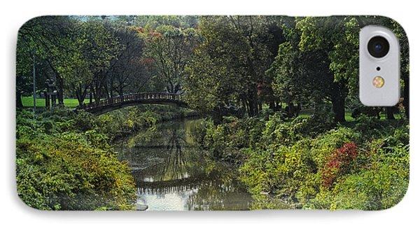 Bradley Park Japanese Bridge 05 Textured IPhone Case
