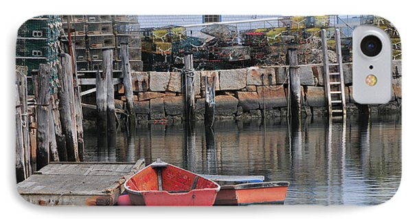 Bradley Wharf Dinghies Phone Case by Mike Martin