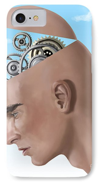 Brain Cogs IPhone Case by Spencer Sutton