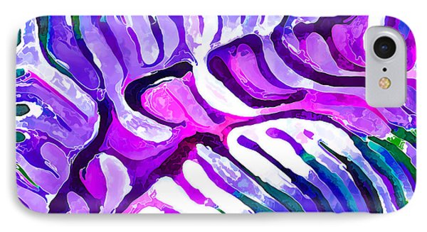 Brain Coral Abstract 4 In Purple IPhone Case by ABeautifulSky Photography
