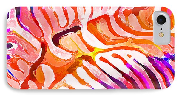Brain Coral Abstract 6 In Orange IPhone Case by ABeautifulSky Photography