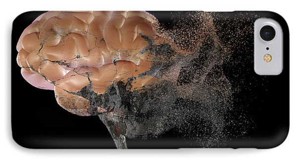 Brain Disease IPhone Case by Christian Darkin