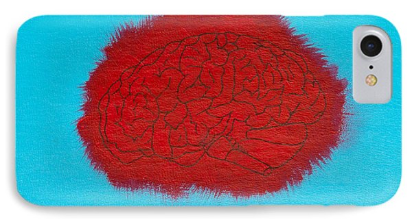 Brain Red IPhone Case by Stefanie Forck