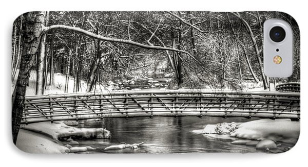 Brainards Bridge After A Snow Storm 3 Phone Case by Thomas Young