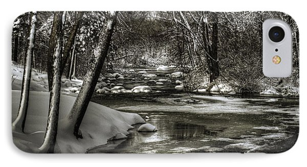 Brainards Bridge After A Snow Storm 4 Phone Case by Thomas Young