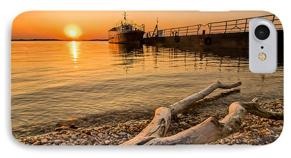 Branch Barge And Sunset Phone Case by Davorin Mance
