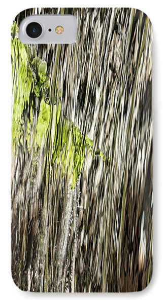 Branch In Waterfall IPhone Case by Gregory Scott