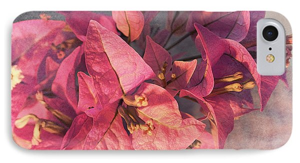 Branch With Bougainvillea Flowers  Phone Case by Sviatlana Kandybovich