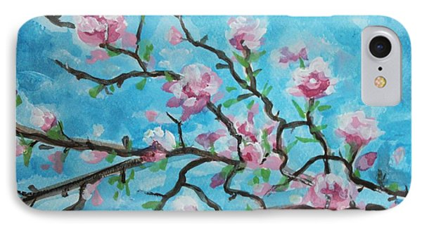 Branches In Bloom IPhone Case by Elizabeth Robinette Tyndall