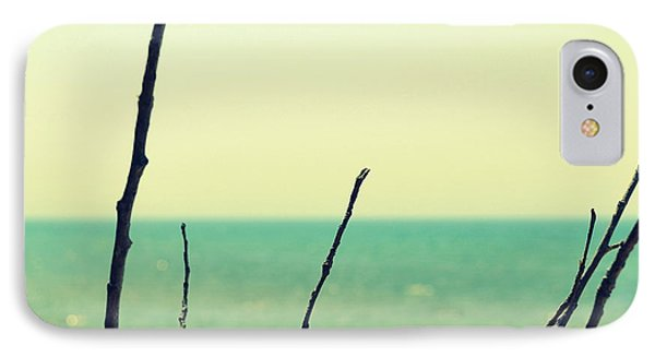 Branches On The Beach Phone Case by Michelle Calkins
