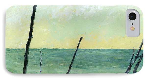 Branches On The Beach - Oil IPhone Case by Michelle Calkins
