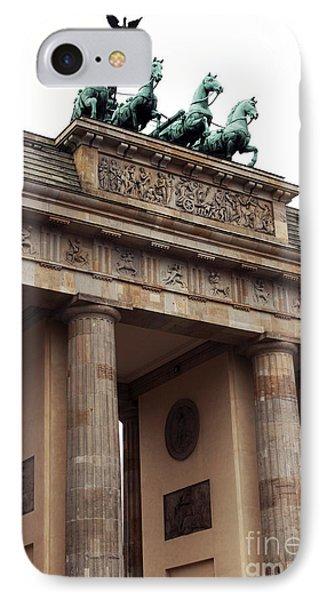 Brandenburg Gate Phone Case by John Rizzuto