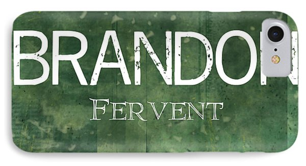Brandon - Fervent Phone Case by Christopher Gaston