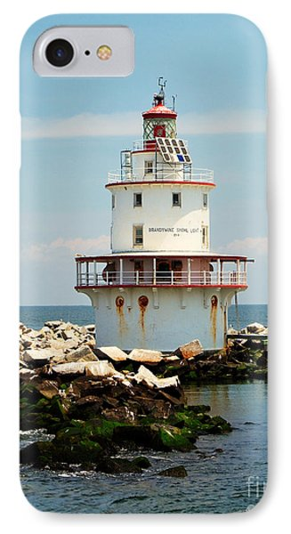 Brandywine Shoal  Lighthouse IPhone Case by Nick Zelinsky