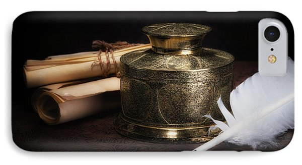 Brass Inkwell Still Life IPhone Case