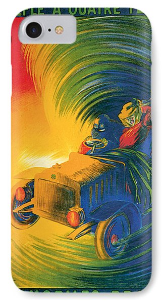 Brassier Automobile - Vintage Poster Phone Case by World Art Prints And Designs