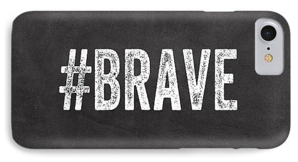 Brave Card- Greeting Card IPhone Case by Linda Woods