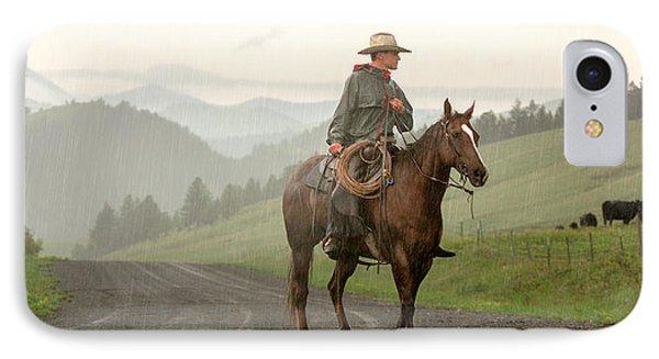 Rural Scenes iPhone 7 Case - Braving The Rain by Todd Klassy