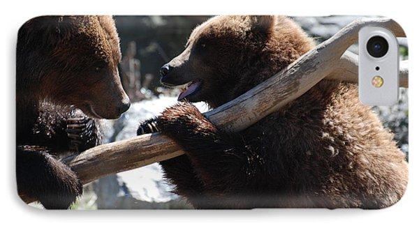 Brawling Bears IPhone Case by DejaVu Designs