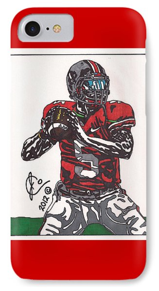 Braxton Miller 1 IPhone Case by Jeremiah Colley