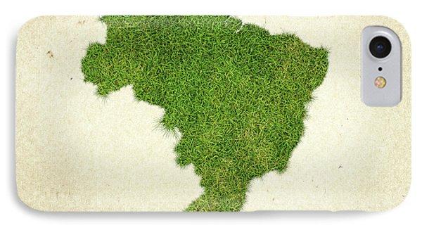 Brazil Grass Map IPhone Case