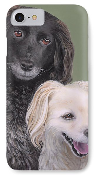 IPhone Case featuring the painting Brea And Randy by Jane Girardot