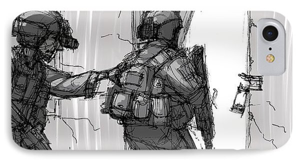 Breach And Clear IPhone Case by Anthony Mata
