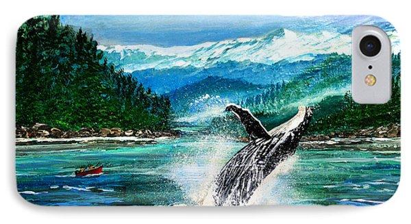 Breaching Humpback Whale IPhone Case by Patricia L Davidson